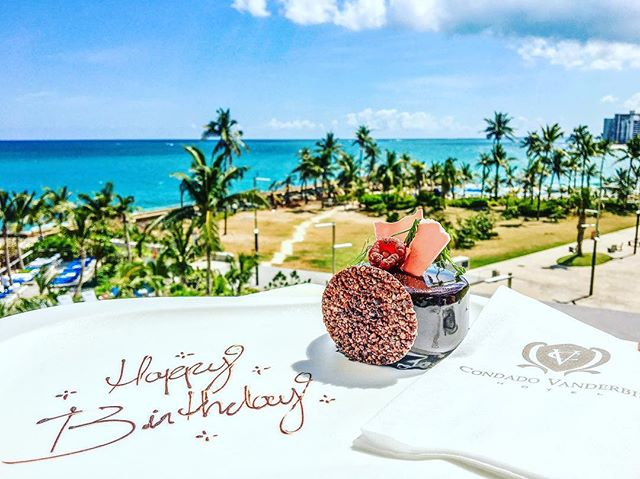 Dear @condadovanderbilt - You sure know how to make a birthday girl feel special 😍 🎈Thank you so much for this amazing treat that was waiting for me in my hotel room on my birthday! We have unanimously concluded that this is the most DELICIOUS #dessert we have ever eaten 🎂 The views aren't so bad, either 😉🌴 It's @catchingcamp 's birthday in a few weeks... we may need to come back 😬🇵🇷🙌 . . . . #photography #photooftheday #photooftheday #sanjuan #birthday #condadovanderbilt #tropical #caribbean #puertorico #luxurylifestyle #instagood #getaway #puertorican #whateverpuertorico #treatyoself #palmtree #luxury #explore #architecturephotography #photographer #foodporn #island #travelphotography #realestate #interiordesign #wanderlust #travel #travelblogger  #lifestyleblogger #nom