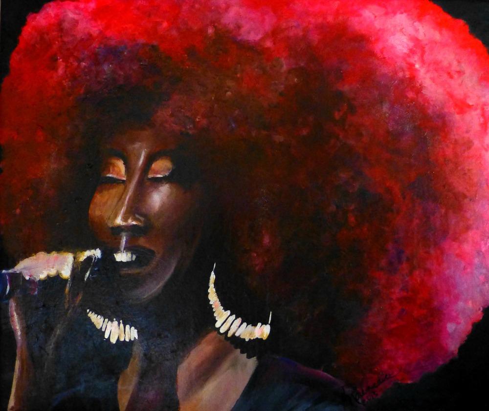 """Erica Falls"" acrylic on canvas 32""x30"" - 2013"