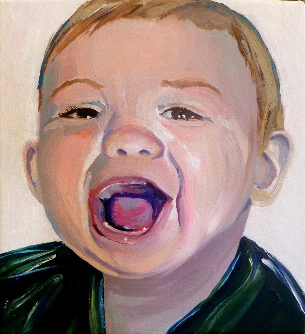 """""""Milo"""" 10""""x10"""" acrylic on canvas 2014"""