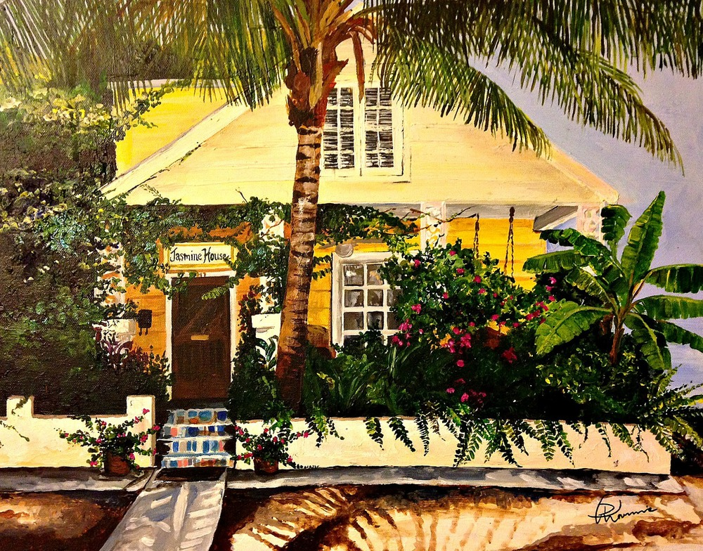 """""""Jasmine House"""" - 16""""x20"""" acrylic on canvas 2012"""