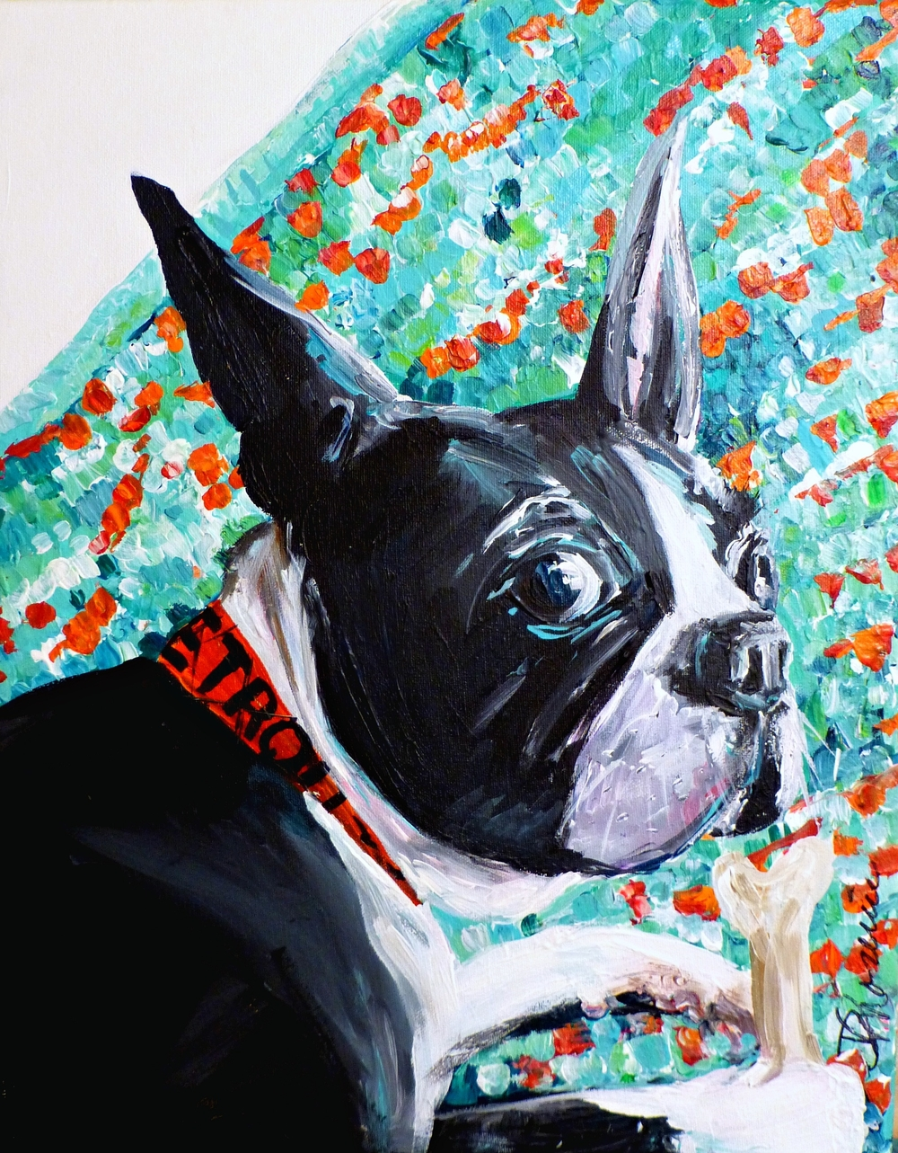 """Murphy"" - 2015 acrylic on canvas, 16""x20"""