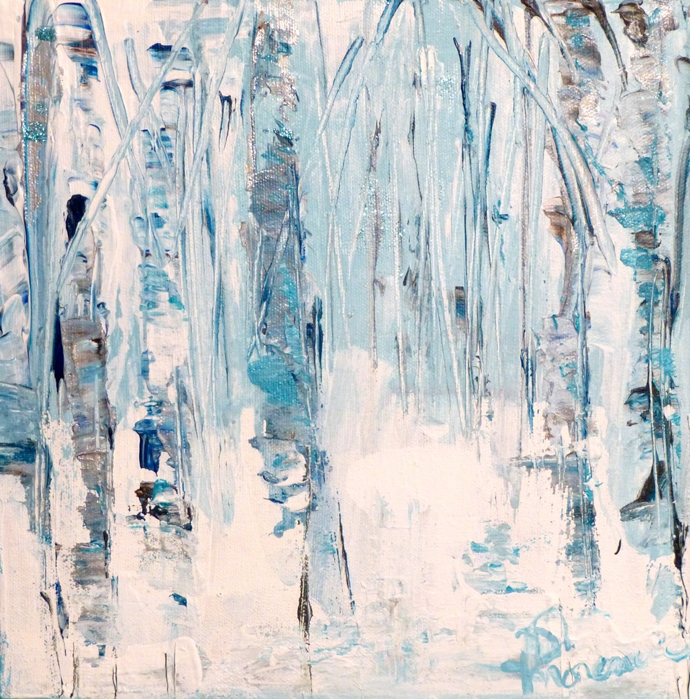 """Winter"" Dec 2015 acrylic on canvas 10""x10"" 2015"