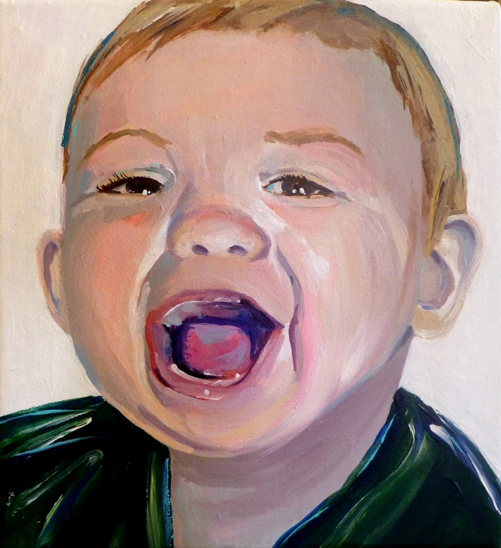 """10x10"""" acrylic on gallery wrapped canvas 2014, family collection"""