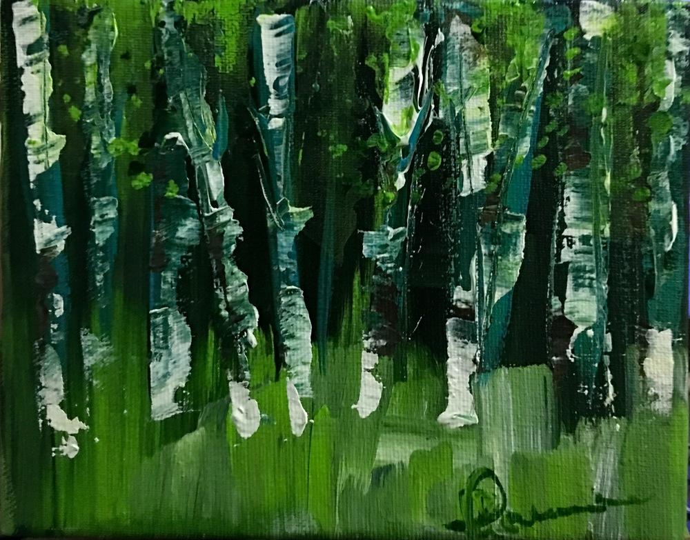 """acrylic on canvas """"5.25x6.75"""" 2016 $240"""