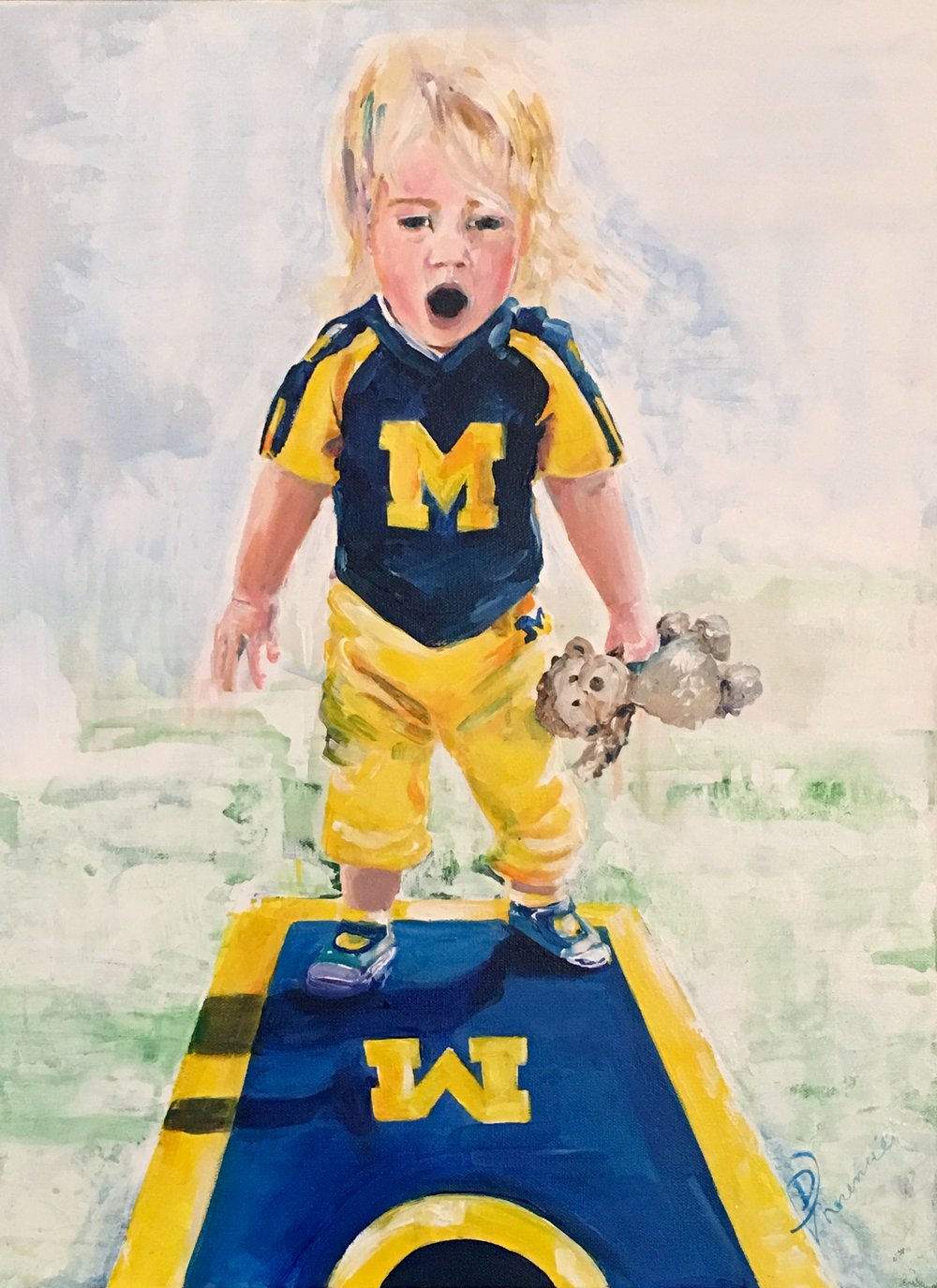 """18x24"""" acrylic on gallery-wrapped canvas, owner Michigan"""