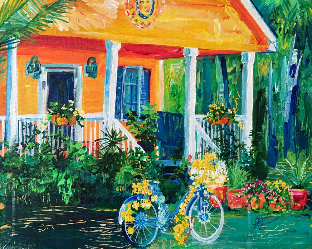 """16""""x20"""" acrylic on gallery-wrapped canvas 2017, owner Florida"""