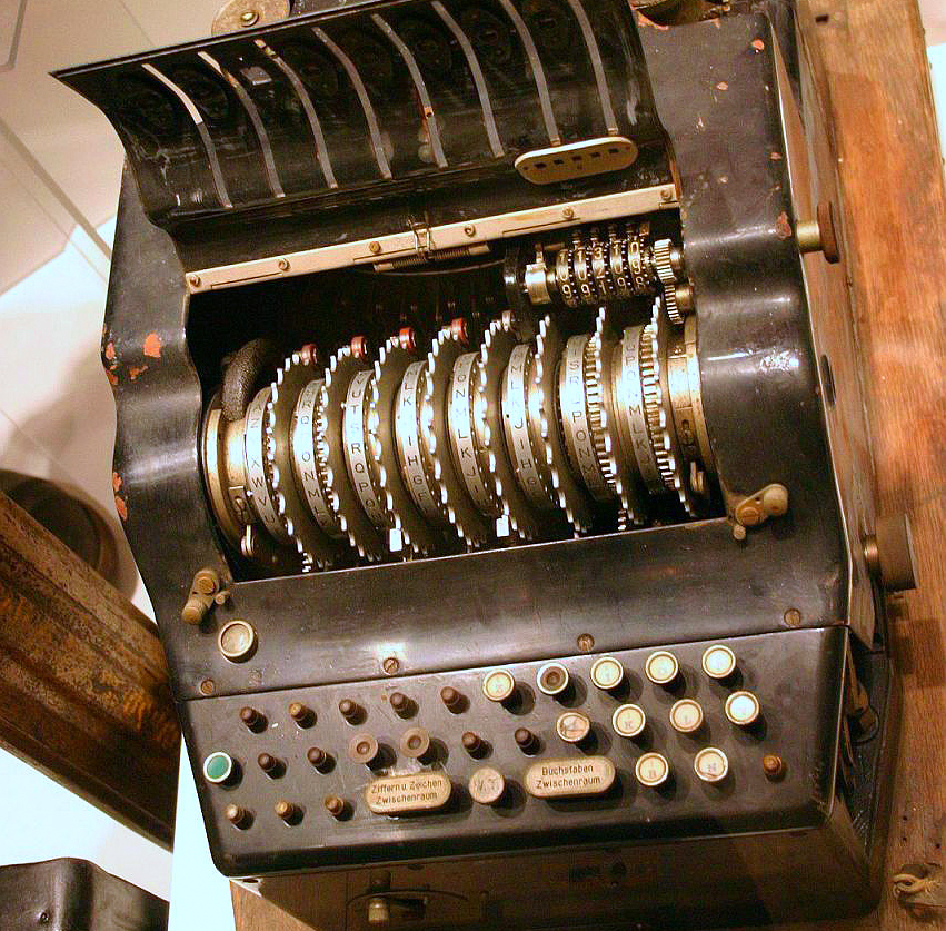 antique enigma machine
