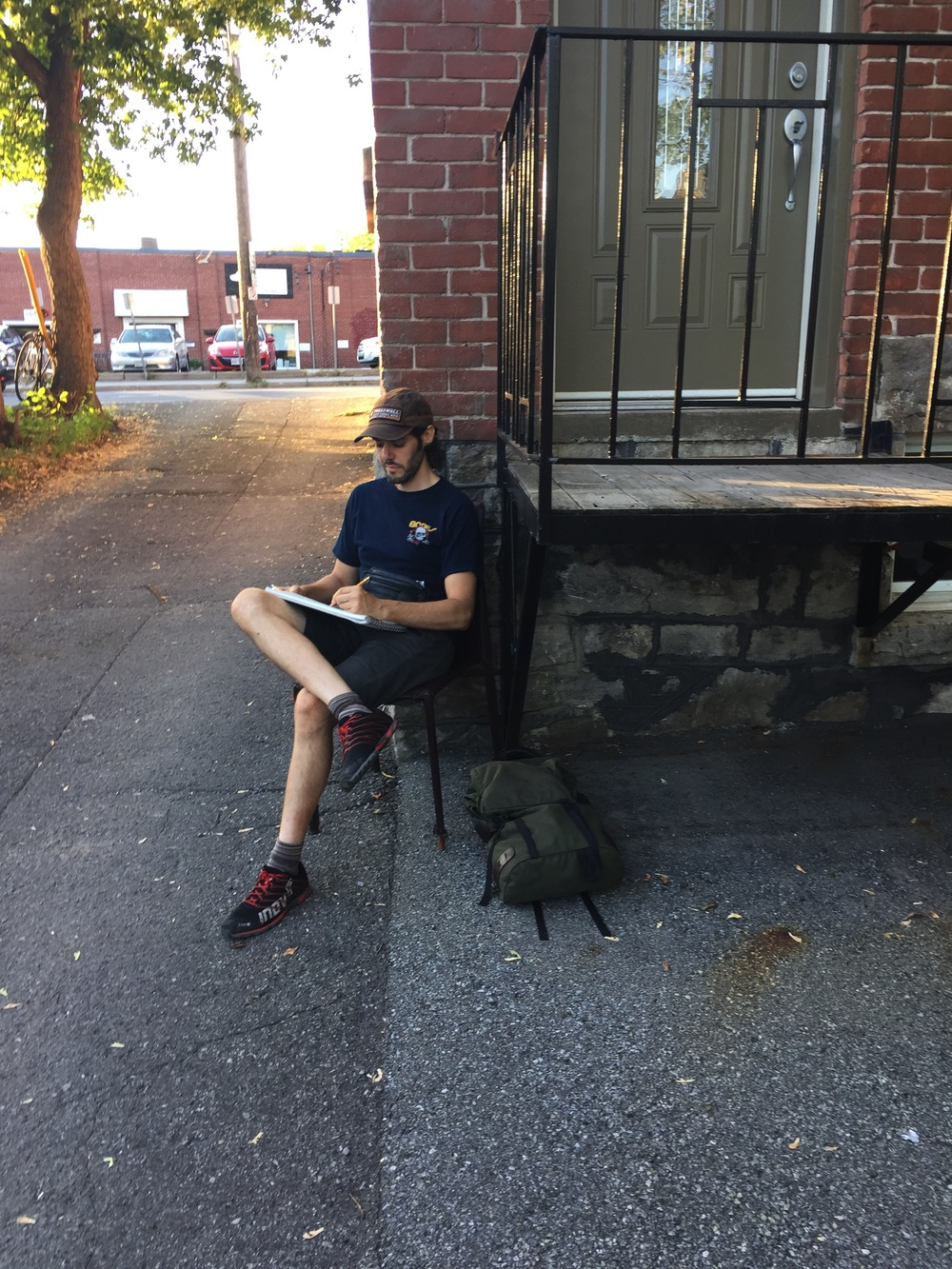 (Mawt sketching in Old Ottawa South)