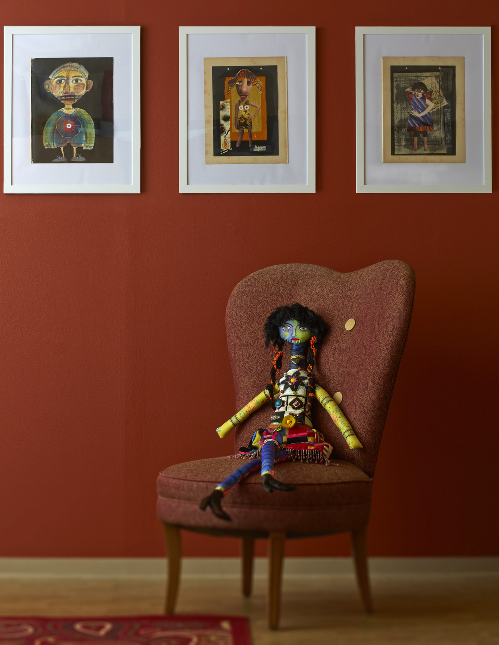 MY ART WITH MY FAVORITE ART DOLL BY LORI SIEBERT
