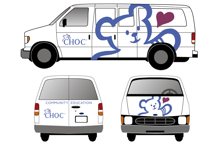 CHOC Community Education Vans