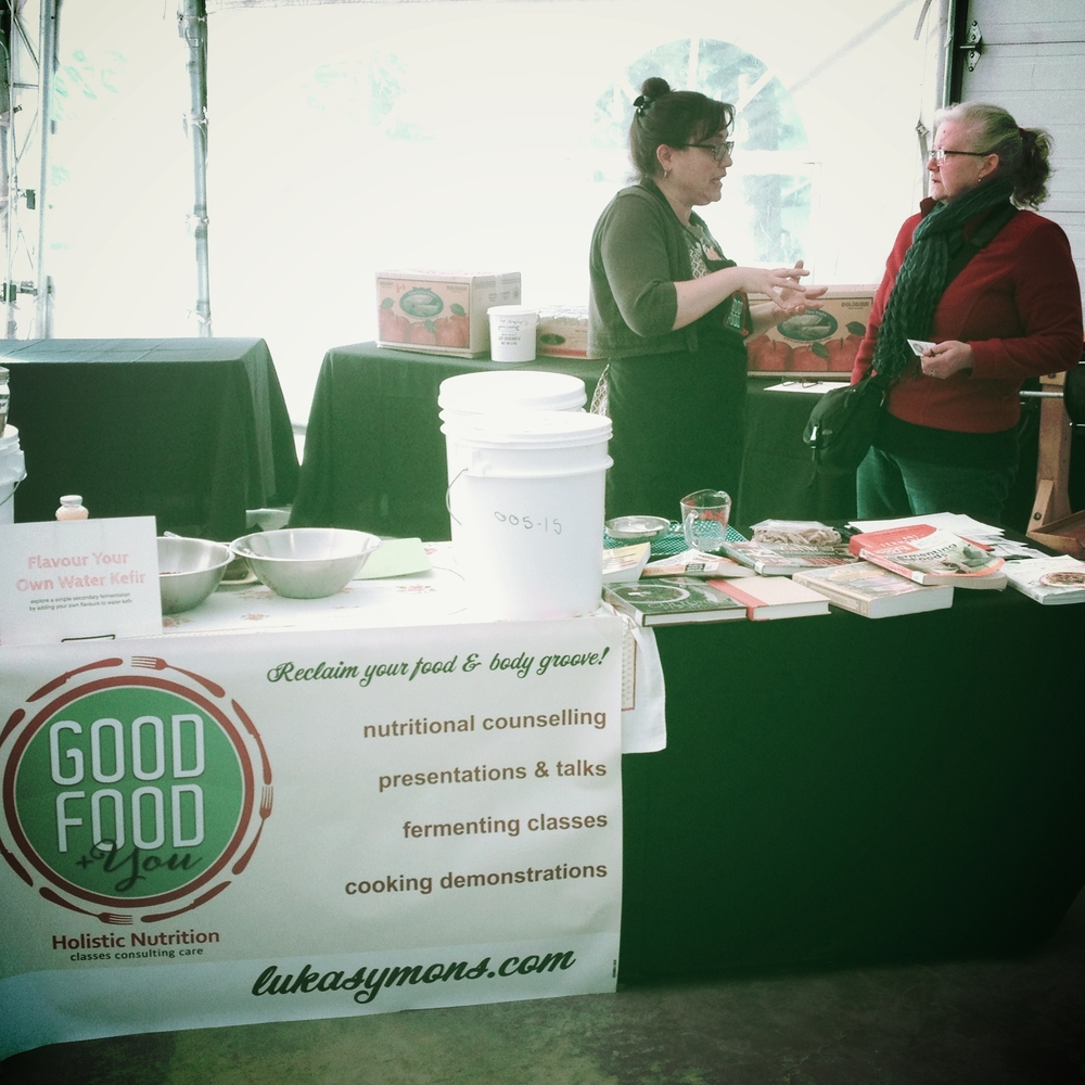 Our spot at this weekend's Festival of Friendly Ferments. Yummy homemade probiotic soda participants flavoured and took home to try it out! Thanks to Dean C. for the photo.