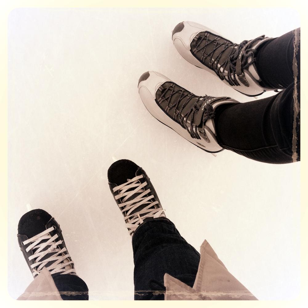 Yeah we went skating...