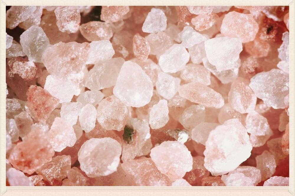 Himalayan sea salt crystals up close