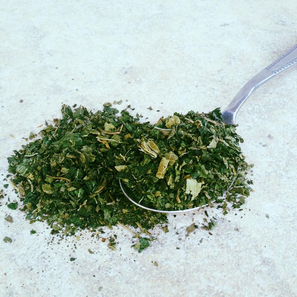 Dry nettle leaves