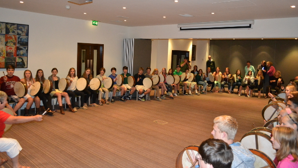 Group lesson bodhran