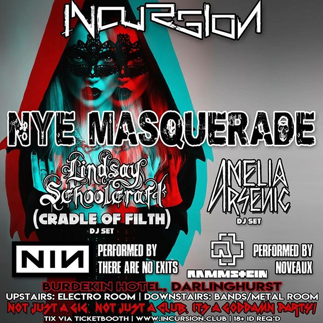 Ending 2018 with a mega party in beautiful Sydney. Playing with the inimitable @lindzriot at @incursion_alternative at the Burdekin. I'm headlining the electro room, playing some gnarly bangers to bring in 2019. ✨🐨🍻🎧💪