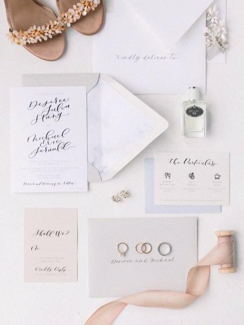 Design By Laney Wedding Invitation Suite / http://jennaphoto.com