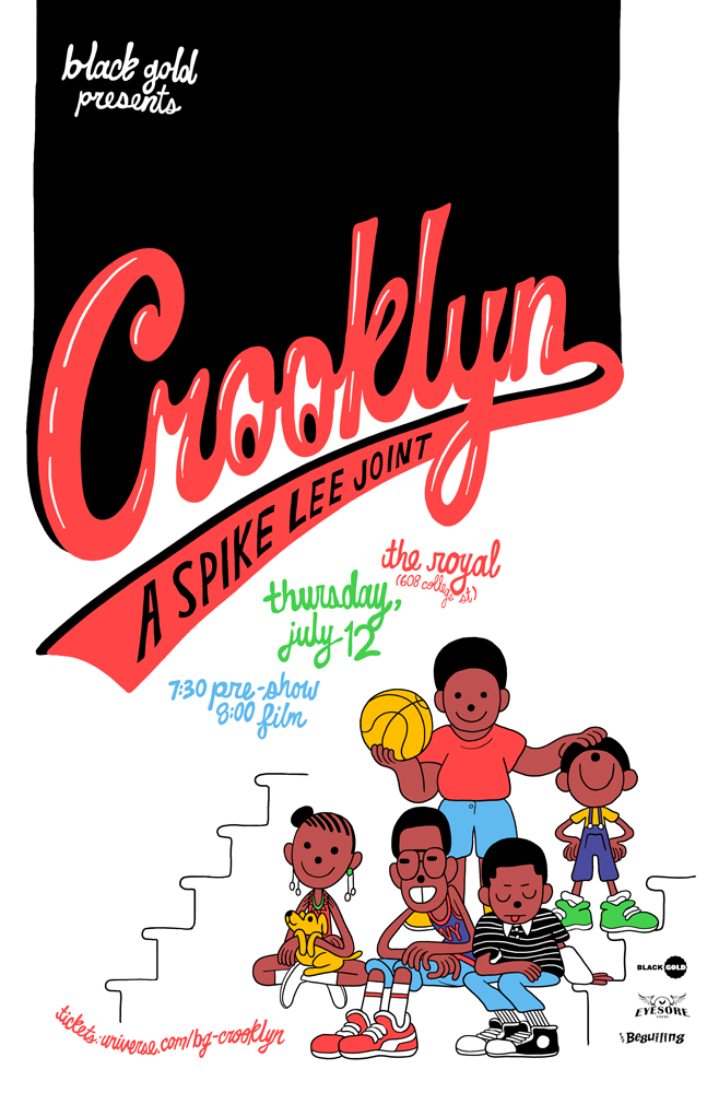Poster for Black Gold's screening of Crooklyn