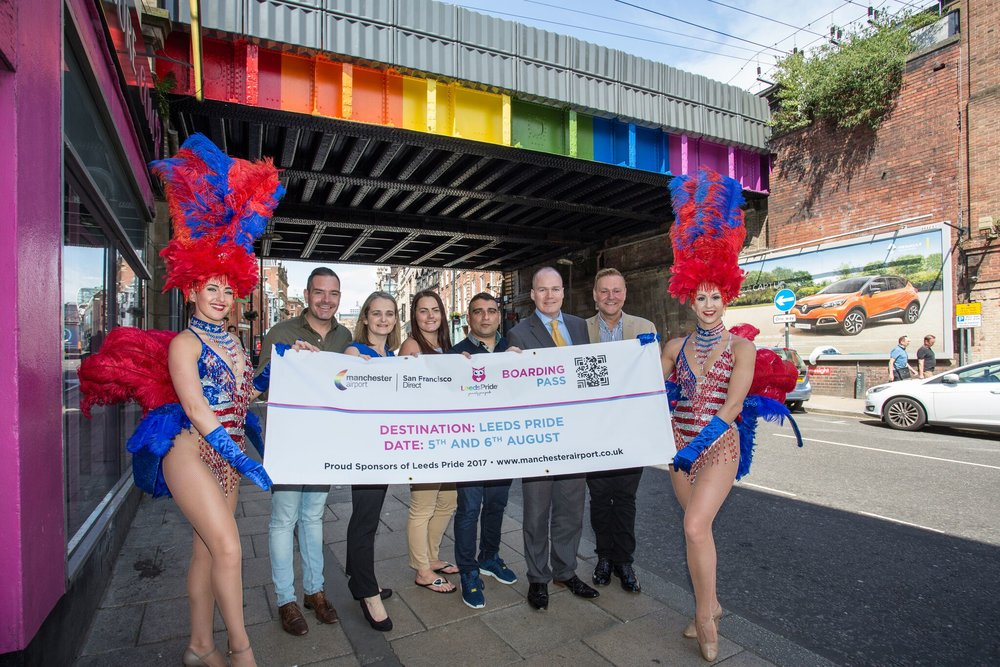 Representatives of Manchester Airport and Leeds Pride Meet to Celebrate the Partnership