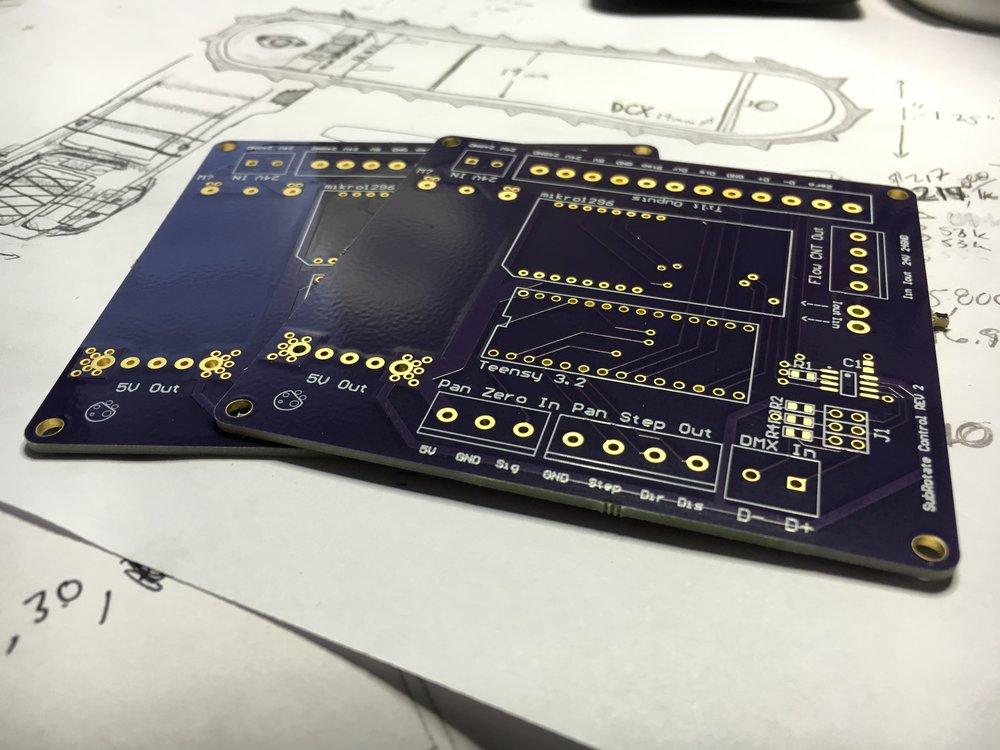 Controller PCB for Pan/Tilt System