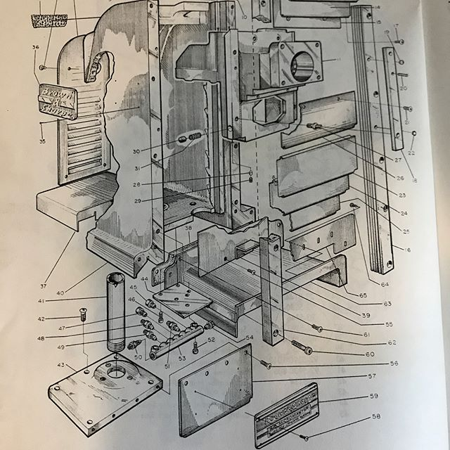 In a world where an assembly drawing can be created in seconds often the art of communicating information efficiently is lost. I like to gain perspective through the works of those who had no such shortcuts.  Much respect to these beauties!  #foreverapprentice #brownandsharpe #assemblydrawings #tufte #bugrobotics