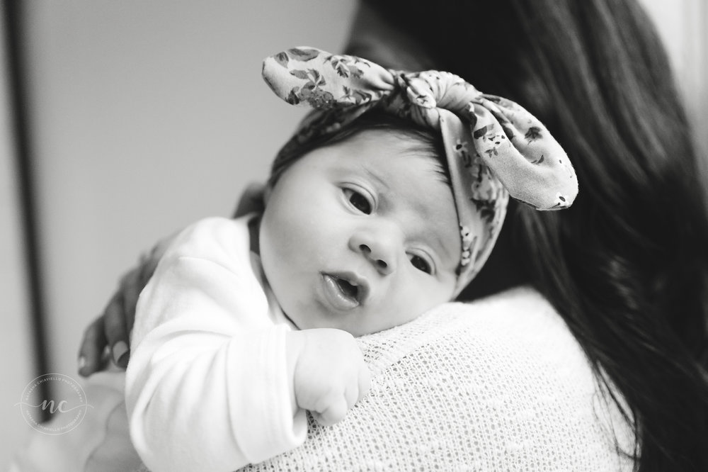b & w newborn photography