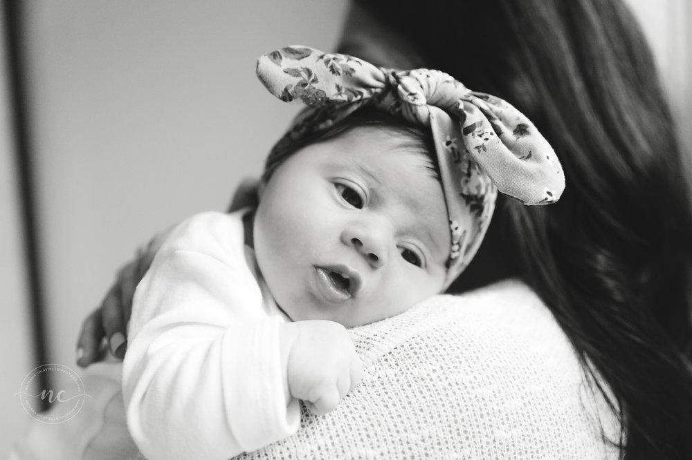 b & w newborn photography