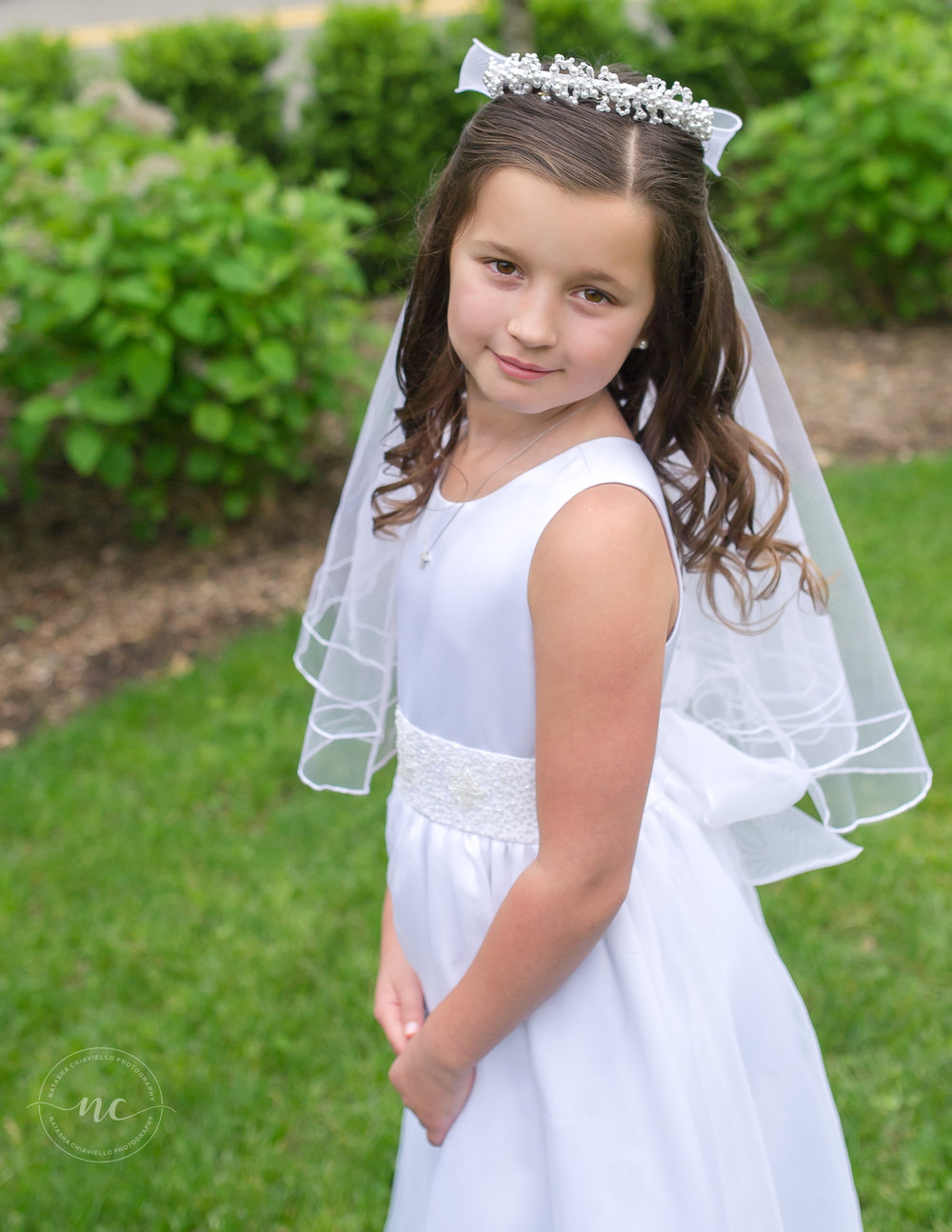 communion dress and details