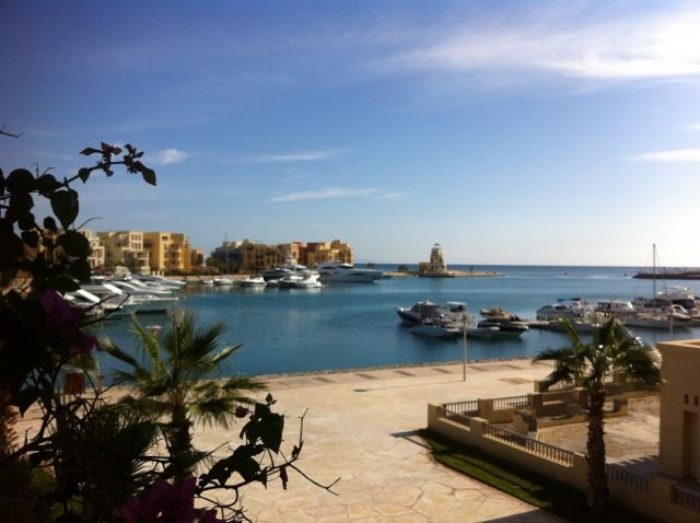 View of El Gouna Marina from Mosaique Hotel