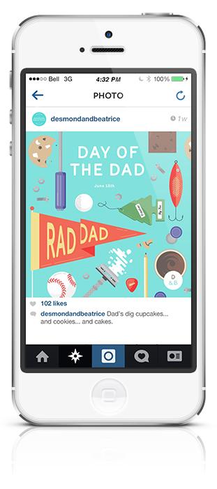 Desmond & Beatrice illustration instagram
