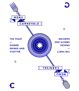 Carnivale menu illustration