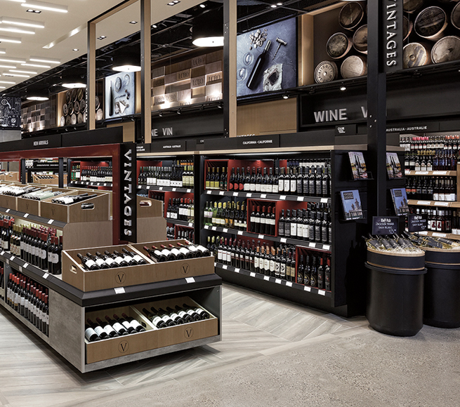Art directed brand photography inside LCBO's flagship store in the Beaches.