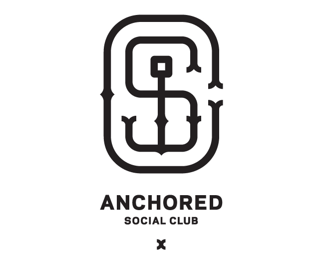 Logo and branding for a Toronto gym: the Anchored Social Club.