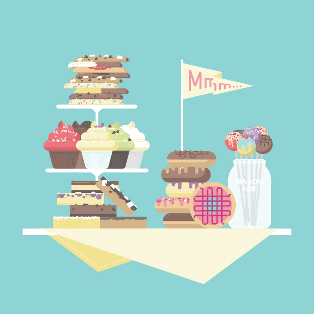 Brand illustrations for a local Toronto bakeshop.