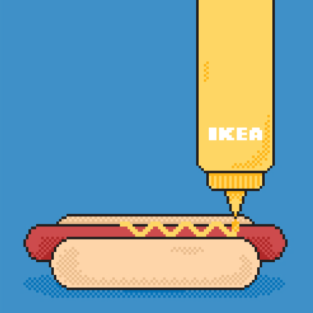 Pixel art turned animated GIFs for IKEA.