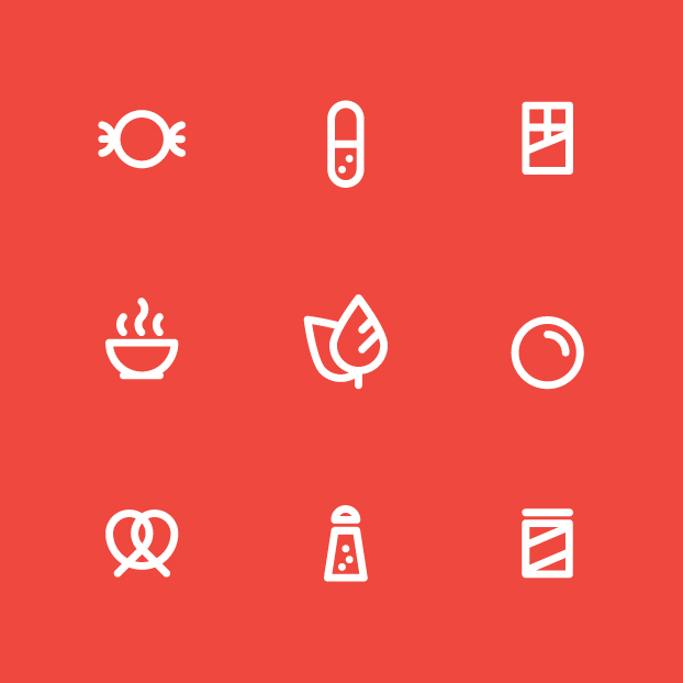 Iconography design — select sets of icons for various brands from IKEA to Bulk Barn.