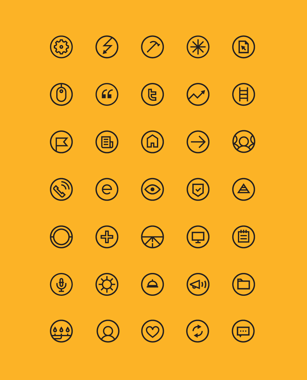 A set of brand icons designed for Enbridge.