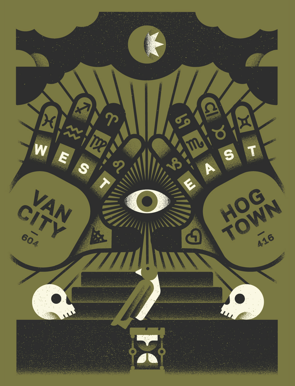 Illustrative poster — Vancity vs. Hogtown.