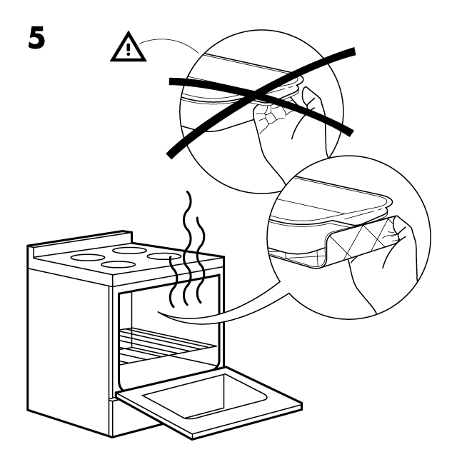 Illustrative infographic: IKEA assembly instructions — step 5.