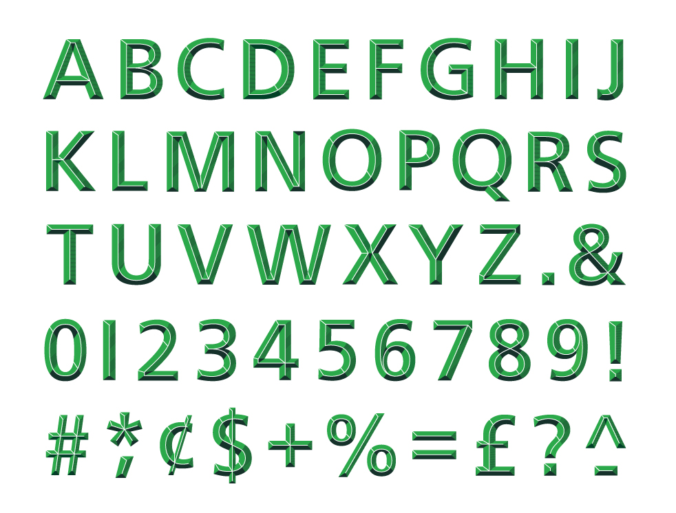 Illustrative typeface designed for TD Bank.