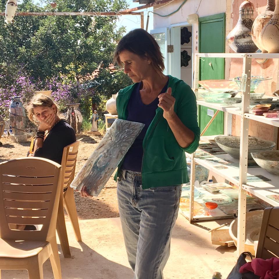 Batya Gil at her Studio in Clil, Israel