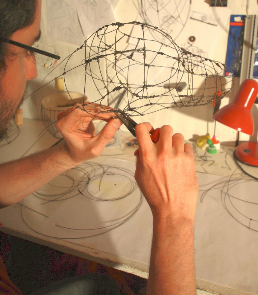 Koby Working in His Studio