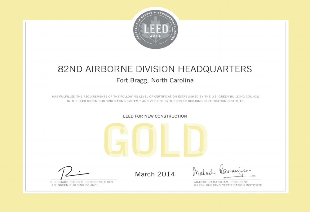 LEED GOLD - 82nd Airborne CERTIFICATE.jpg