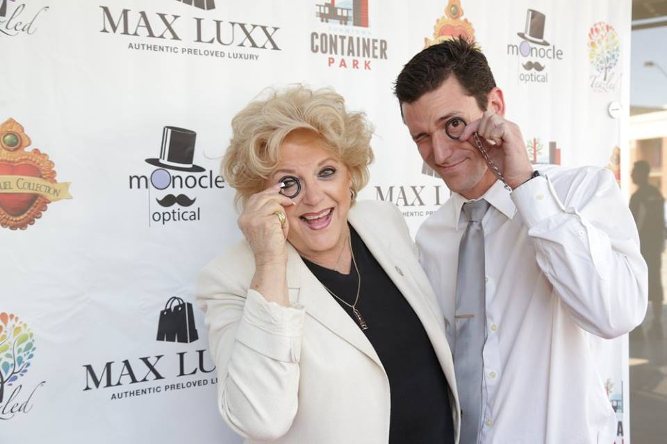 Eric Healey and Mayor Carolyn Goodman at the Grand Opening of Monocle Optical