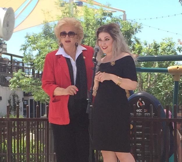 Mayor Carolyn Goodman and Malory Mendonsa