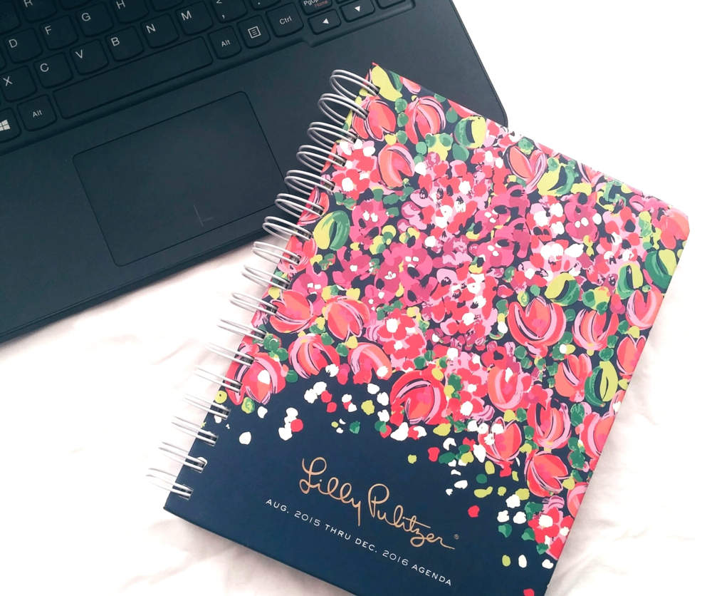 "Lilly Pulitzer large agenda featured in ""Wild Confetti"""