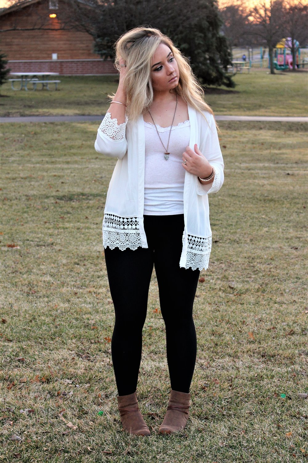Cardigan  |  Leggings  |  Tank  |  Boots