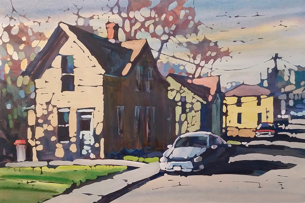 Dan Wiemer -  Booth 54 I combine acrylic and watercolor to create stylized landscapes