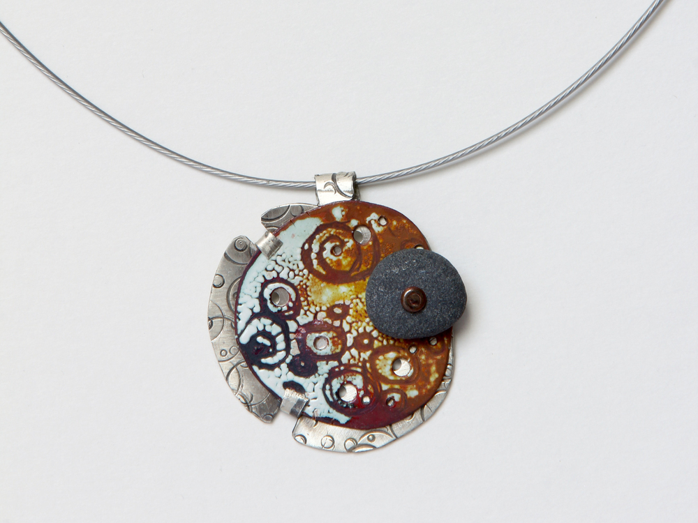 Brenda Haack - Booth 60 I make my jewelry the old fashioned metal smith way with sterling and fine silver, copper, torch fired enamel and Lake Superior stones. My jewelry is natural, simple, modern and fun.