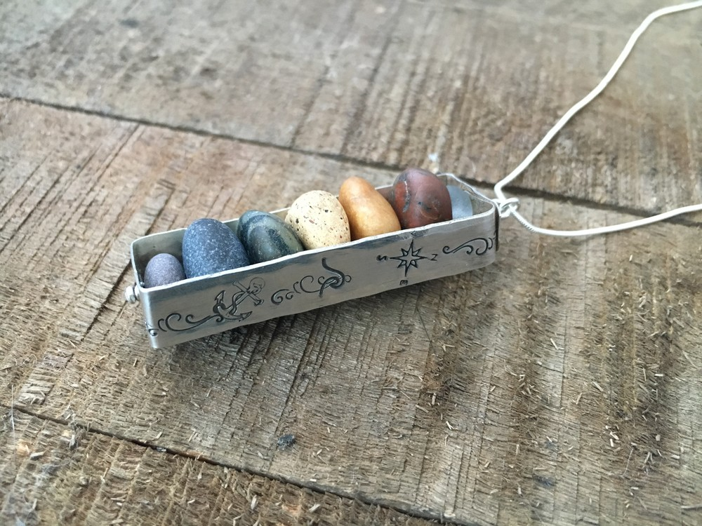 April Witzke - Booth 52 Hand picked Lake Superior stones & sea glass are combined with sterling to create one of a kind jewelry designs. With years of practice behind me, I perfectly hand drill each stone and piece of glass.